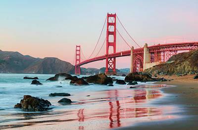 Photograph - Painted Bridge And Sunset by Derek Slagle