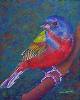 Painting - Painted Bunting by Denise Wagner