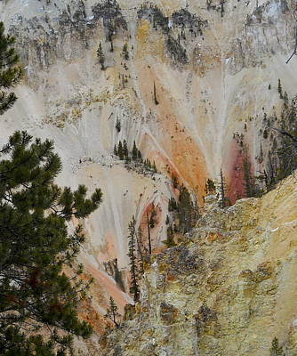 Photograph - Painted Canyon At Lower Falls by Michele Myers
