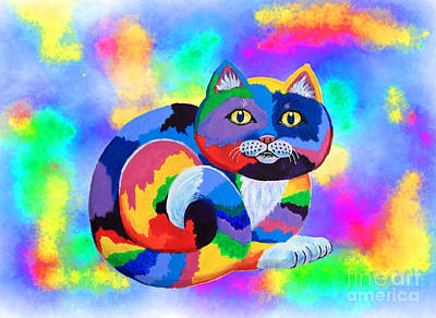 Painted Cat Art Print by Nick Gustafson