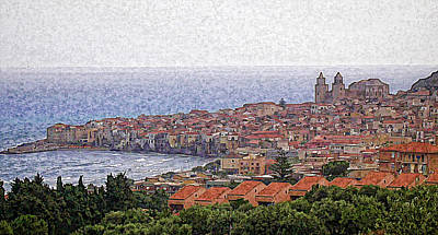 Photograph - Painted Cefalu Sicily by Caroline Stella