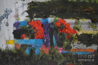 Photograph - Painted Chair And Geraniums by Brian Boyle