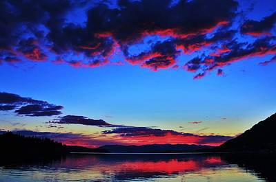 Sandpoint Photograph - Painted Clouds by Benjamin Yeager