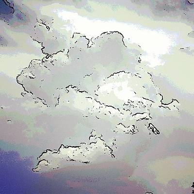 Manipulation Photograph - Painted Clouds by Judi FitzPatrick