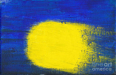 Abstract Painting - Painted Comet by Kerstin Ivarsson