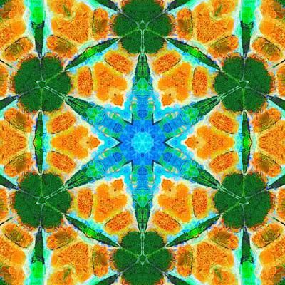 Painting - Painted Cymatics 136.00hz by Derek Gedney