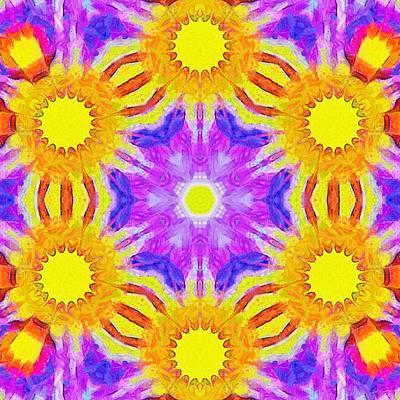 Painting - Painted Cymatics 161.66hz by Derek Gedney