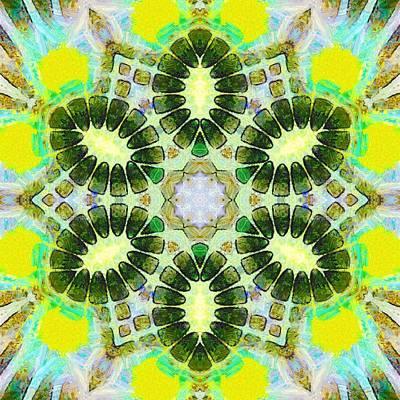 Painting - Painted Cymatics 181.66hz by Derek Gedney