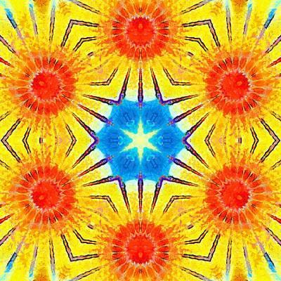 Painting - Painted Cymatics 407.66hz by Derek Gedney