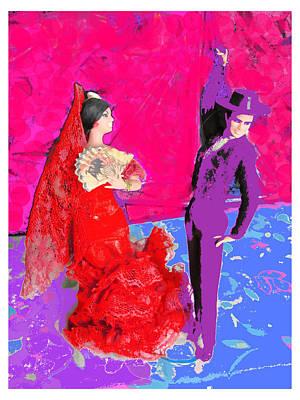 Flamenco Mixed Media - The Flamenco Dancers by Stacie Siemsen