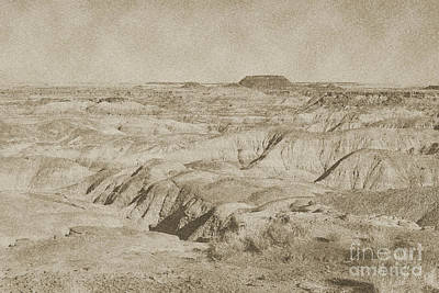 Digital Art - Painted Desert In Petrified Forest National Park Vintage by Shawn O'Brien