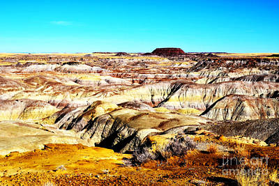 Photograph - Painted Desert In Petrified Forest National Park Vivid by Shawn O'Brien