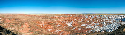 Petrified Forest Arizona Photograph - Painted Desert, Petrified Forest by Panoramic Images