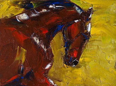 Horse Images Painting - Painted Determination by Jani Freimann