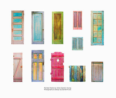 By Asha Photograph - Painted Doors And Window Panes by Asha Carolyn Young and Daniel Furon