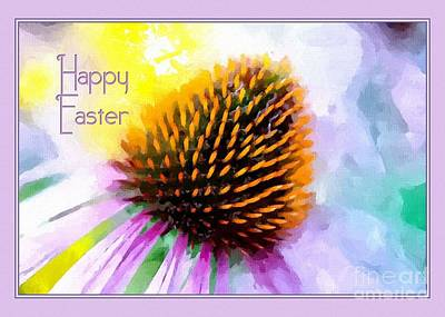 Digital Art - Painted Easter Coneflower by JH Designs