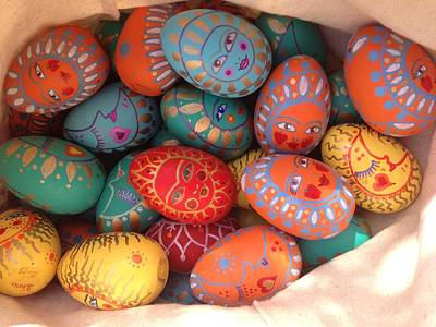 Painting - Painted Eggs by Shirin Shahram Badie
