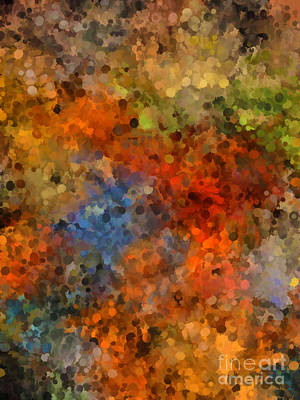 Painted Fall Abstract Art Print