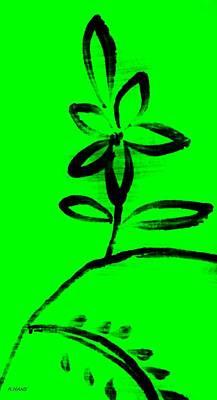 Studio Grafika Zodiac - Painted Floral Green by Rob Hans