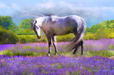 Digital Art - Painted For Lavender by Kari Nanstad