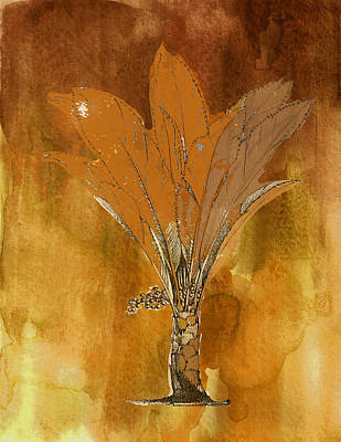 Painting - Painted Gold Palm by Kandy Hurley