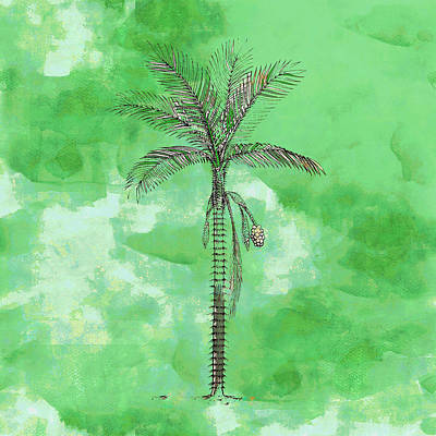 Painting - Painted Green Palm by Kandy Hurley