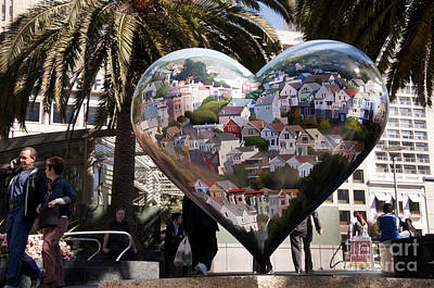 Photograph - Painted Heart In Frisco by Brenda Kean