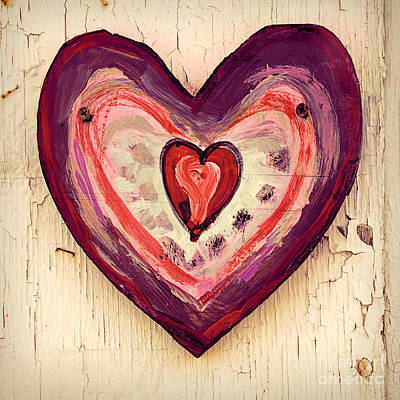 Photograph - Painted Heart by Jill Battaglia