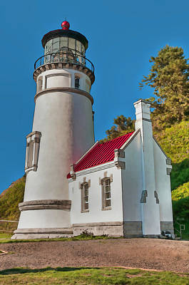 Photograph - Painted Heceta Head Lighthouse by Lara Ellis