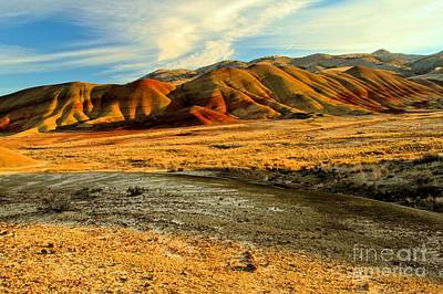 Photograph - Painted Hills And Blue Skies by Adam Jewell