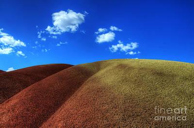 Painted Hills Blue Sky 1 Art Print by Bob Christopher