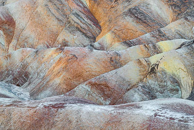 Painted Hills In Death Valley Art Print by Larry Marshall