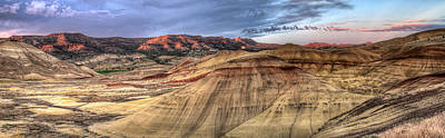 John Day Photograph - Painted Hills In Oregon Panorama by David Gn