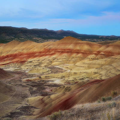 Painted Hills In Square Art Print