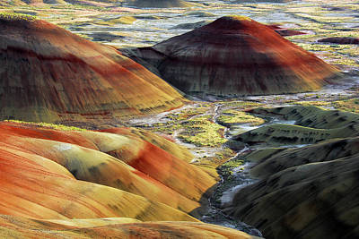 Painted Hills, Sunset, John Day Fossil Art Print