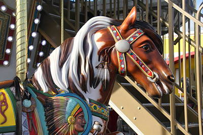 Photograph - Painted Horse Close Up by Denise Mazzocco