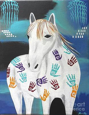 Painting - Painted Horse by Jean Fry