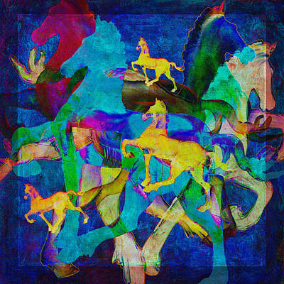 Digital Art - Painted Horses by Sandra Selle Rodriguez