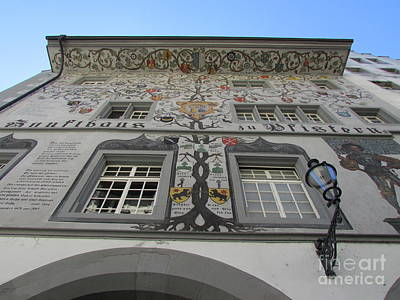 Photograph - Painted House On The Rathaussteg by Art Ina Pavelescu