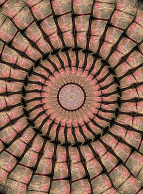 Digital Art - Painted Kaleidoscope 19 by Rhonda Barrett