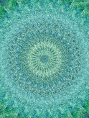 Digital Art - Painted Kaleidoscope 4 by Rhonda Barrett