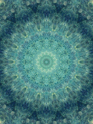 Digital Art - Painted Kaleidoscope 5 by Rhonda Barrett