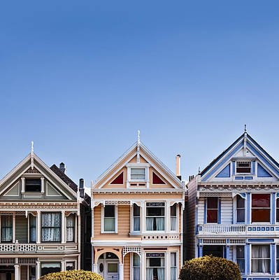 Blue Buildings Photograph - Painted Ladies by Dave Bowman