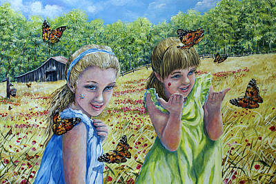 Painting - Painted Ladies by Gail Butler
