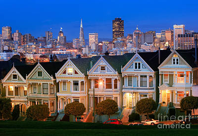 Illuminated Photograph - Painted Ladies by Inge Johnsson