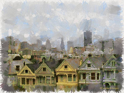 Photograph - Painted Ladies - San Francisco by Paulette B Wright