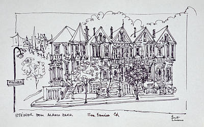 Saint Lawrence Street Photograph - Painted Ladies Victorian Architecture by Richard Lawrence