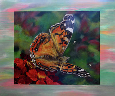 Painted Lady By Karen Peterson Art Print by Karen  Peterson