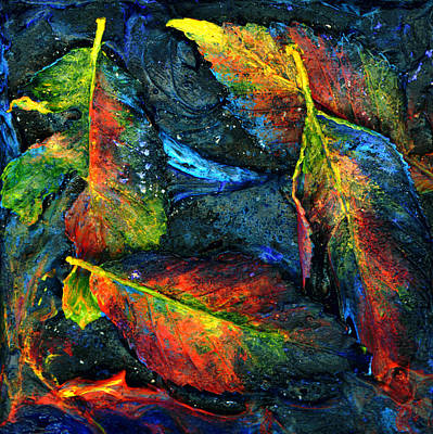 Painting - Painted Leaves by Kd Neeley
