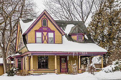Years Old House Photograph - Painted Minnesotan by Paul Freidlund